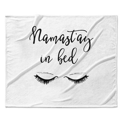Namastayinbed Fleece Blanket Size: 50 W x 60 L