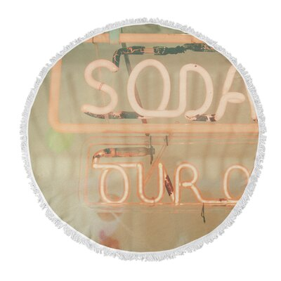Soda Round Beach Towel