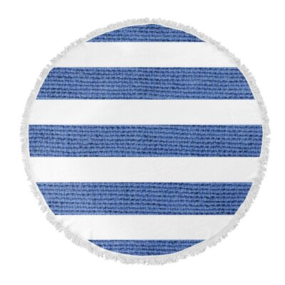 Centerville Round Beach Towel Color: Dark Blue