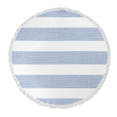 Centerville Round Beach Towel Color: Light Blue