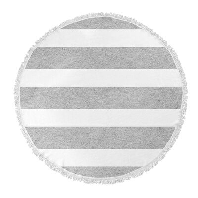 Centerville Round Beach Towel Color: Light Gray
