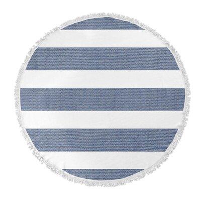 Centerville Round Beach Towel Color: Blue
