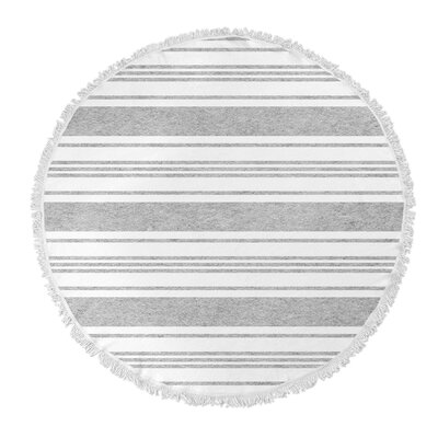 Ellicott Round Beach Towel Color: Grey/ White