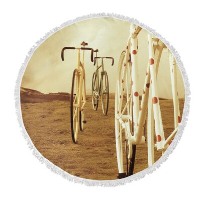 Ride on Round Beach Towel