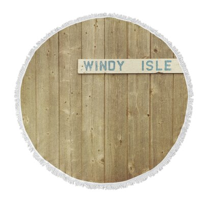 Windy Isle Round Beach Towel