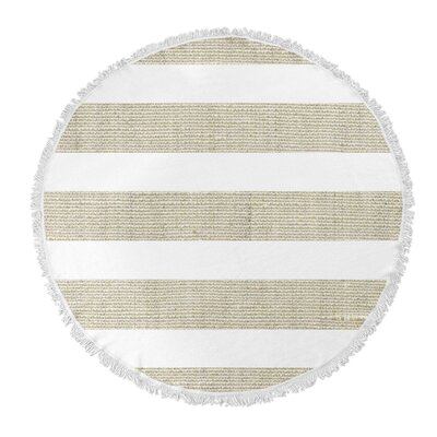 Centerville Round Beach Towel Color: Light Brown