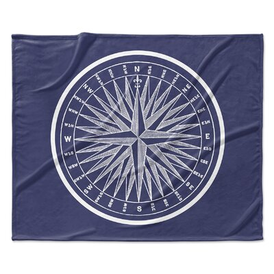 Melton Compass Fleece Blanket Size: 50 W x 60 L