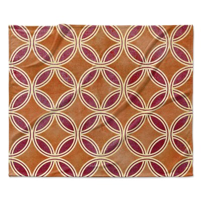 Palm Scope Fleece Blanket Size: 50 W x 60 L