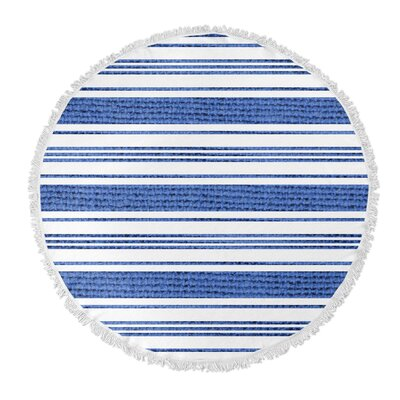 Ellicott Round Beach Towel Color: Blue