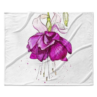 Draping Flower Fleece Blanket Size: 60 W x 80 L