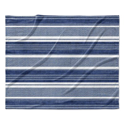 Chatham Fleece Blanket Color: Blue, Size: 60 W x 80 L