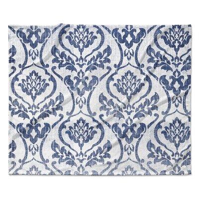 Seabury Fleece Blanket Color: Blue/Light Gray, Size: 90 W x 90 L