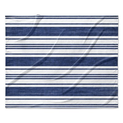 Pinehurst Fleece Blanket Color: Navy, Size: 90 W x 90 L