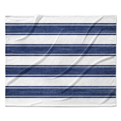 Nautical Stripe Fleece Blanket Size: 60 W x 80 L