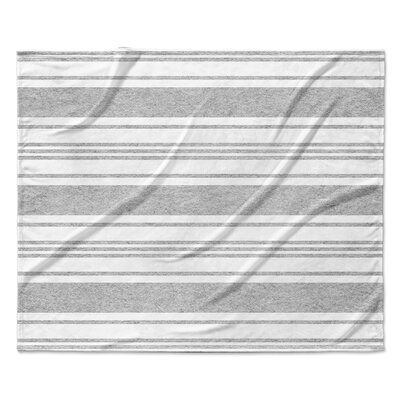 Ellicott Fleece Blanket Color: Gray, Size: 60 W x 80 L