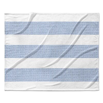 Centerville Fleece Blanket Color: Blue, Size: 90 W x 90 L