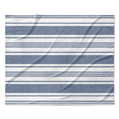 Pinehurst Fleece Blanket Color: Blue, Size: 50 W x 60 L