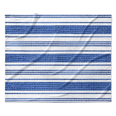 Ellicott Fleece Blanket Color: Blue, Size: 50 W x 60 L