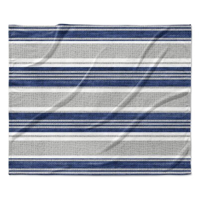 Ellicott Fleece Blanket Color: Blue/Gray, Size: 50 W x 60 L