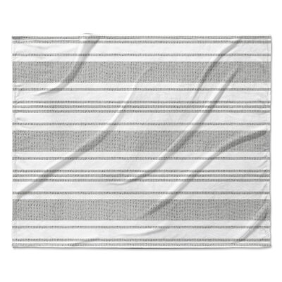 Ellicott Fleece Blanket Color: Silver, Size: 50 W x 60 L