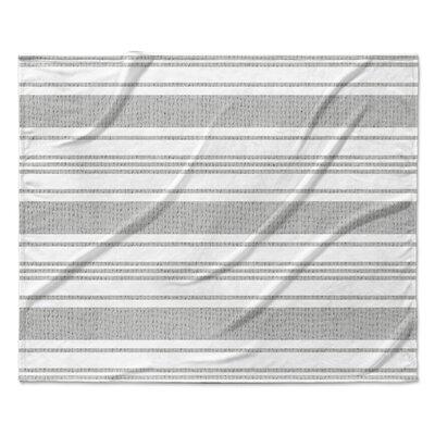 Ellicott Fleece Blanket Color: Silver, Size: 60 W x 80 L