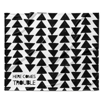 Here Comes Trouble Fleece Blanket