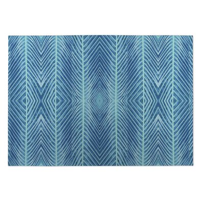 Aleah Palms Doormat Color: Blue