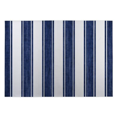 Nautical Stripe Doormat Rug Size: 4 x 5