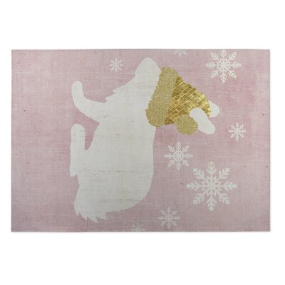 A Christmas Bunny Doormat Mat Size: Square 8