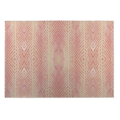 Aleah Palms Doormat Color: Peach