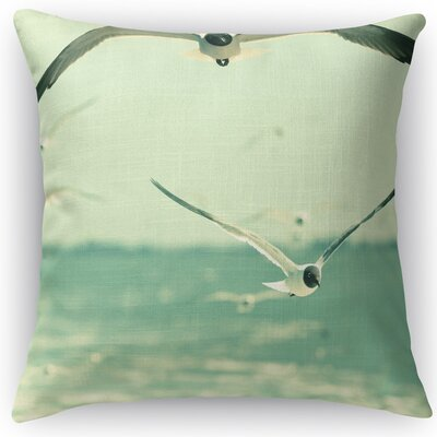 Gulls Throw Pillow Size: 18 H x 18 W x 5 D