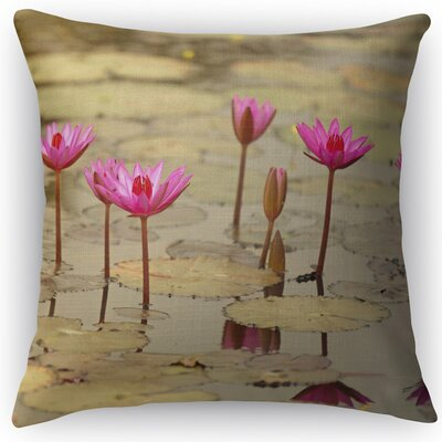 Lotus Throw Pillow Size: 18 H x 18 W x 5 D