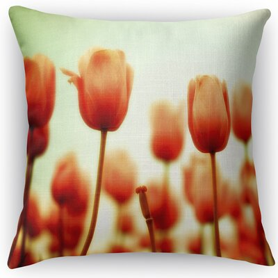 Red Square Throw Pillow Size: 18