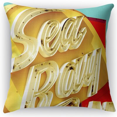 Sea Ray Throw Pillow Size: 24 H x 24 W x 5 D