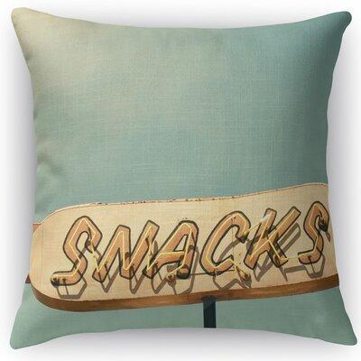 Snacks Throw Pillow Size: 18 H x 18 W x 5 D