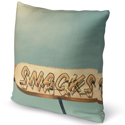 Snacks Accent Pillow Size: 24 H x 24 W x 5 D