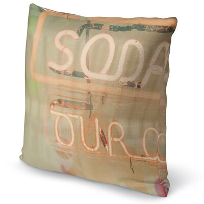 Soda Accent Pillow Size: 16 H x 16 W x 5 D
