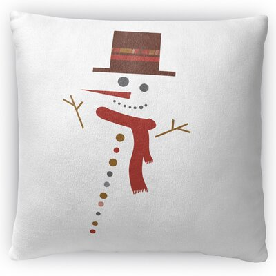 Mr. Snowman Throw Pillow Size: 18 H x 18 W x 4 D