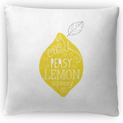Easy Peasy Throw Pillow Size: 16 H x 16 W x 4 D