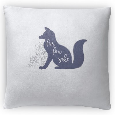 Fox Throw Pillow Size: 18