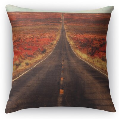 The Long Way Home Throw Pillow Size: 24 H x 24 W x 5 D