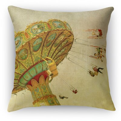 Wheee Throw Pillow Size: 18 H x 18 W x 5 D