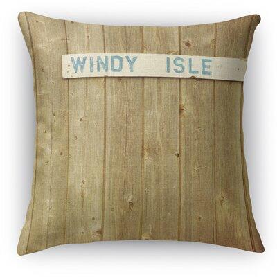 Windy Isle Throw Pillow Size: 18 H x 18 W x 5 D