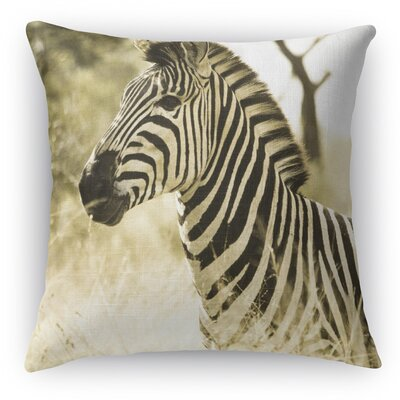 Zebra Throw Pillow Size: 18 H x 18 W x 5 D