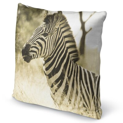 Zebra Accent Pillow Size: 18