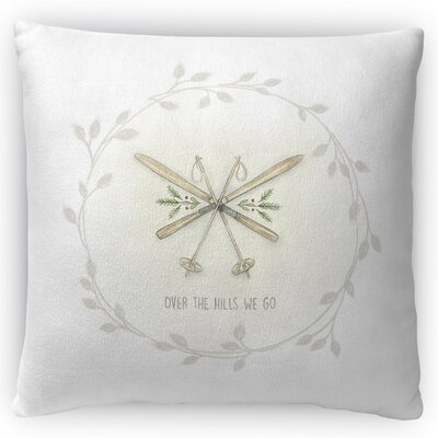 Ski Throw Pillow Size: 18