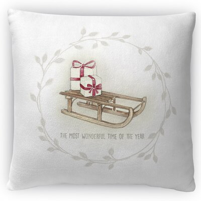 Sled Throw Pillow Size: 16 H x 16 W x 4 D