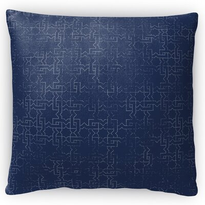 Grid Locked Throw Pillow Size: 18 H x 18 W x 4 D