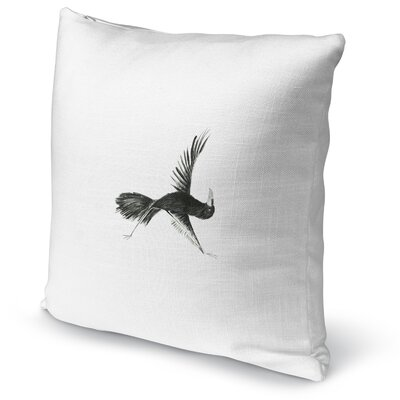 Crow In Triangle Accent Pillow