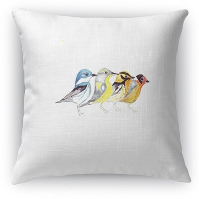 Finches In Mountain Pose Accent Pillow